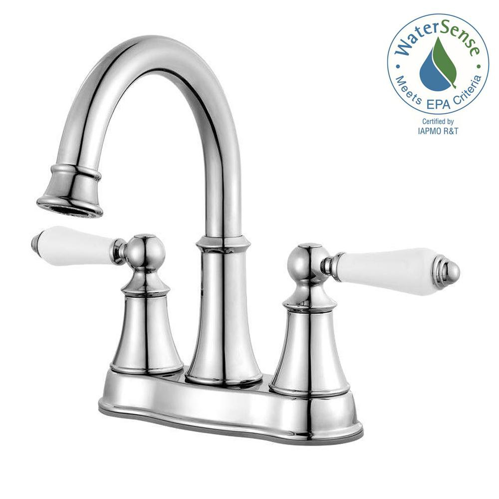 Pfister Courant 4 In Centerset 2 Handle Bathroom Faucet In Polished inside sizing 1000 X 1000