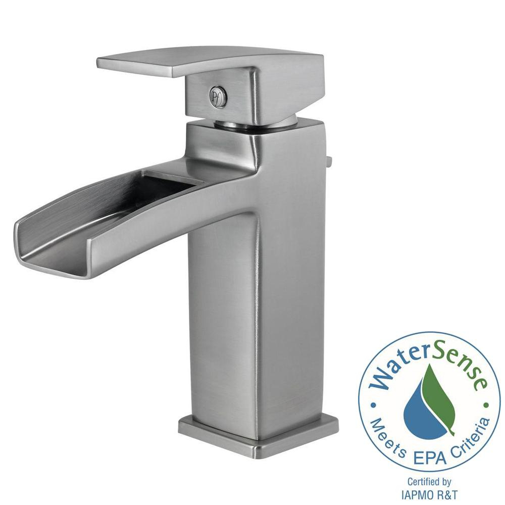 Pfister Kenzo Single Hole Single Handle Bathroom Faucet In Brushed intended for dimensions 1000 X 1000
