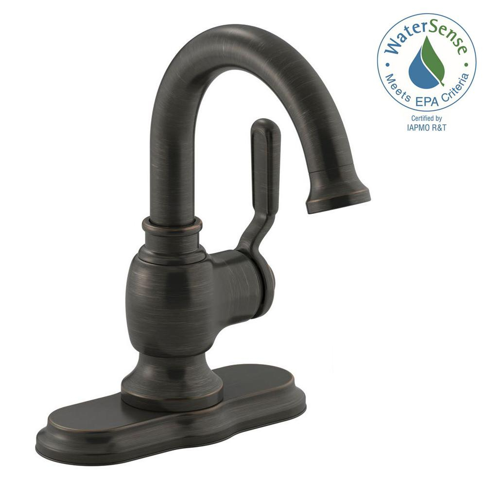 Single Handle Bathroom Faucet 1 Hole High Arc Sink Faucets Oil pertaining to sizing 1000 X 1000