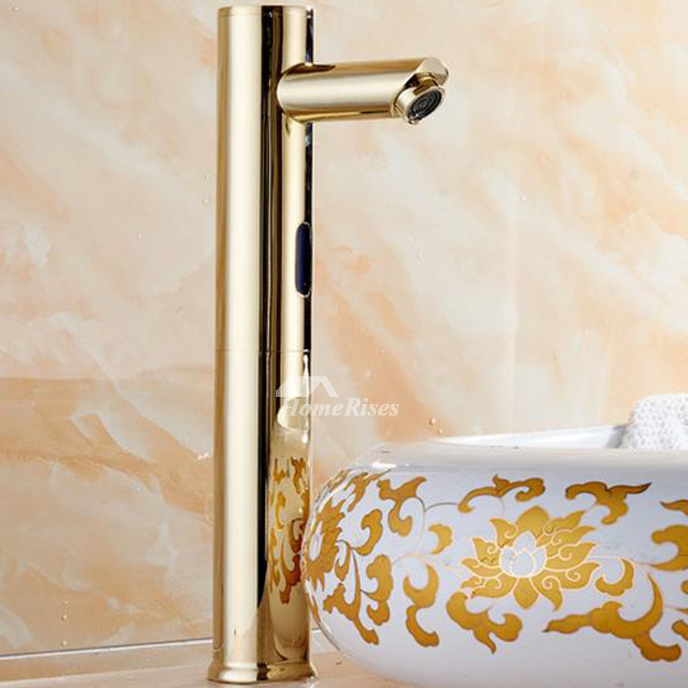 Touchless Bathroom Faucet Gold Polished Brass Hands Free Battery Best pertaining to dimensions 1000 X 1000