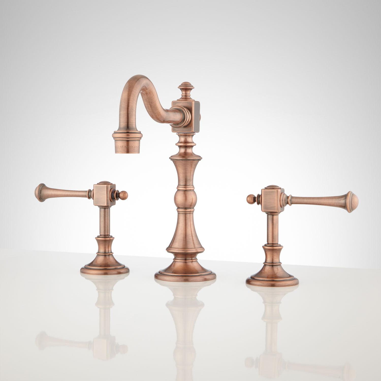 Vintage Widespread Bathroom Faucet Lever Handles Bathroom within proportions 1500 X 1500