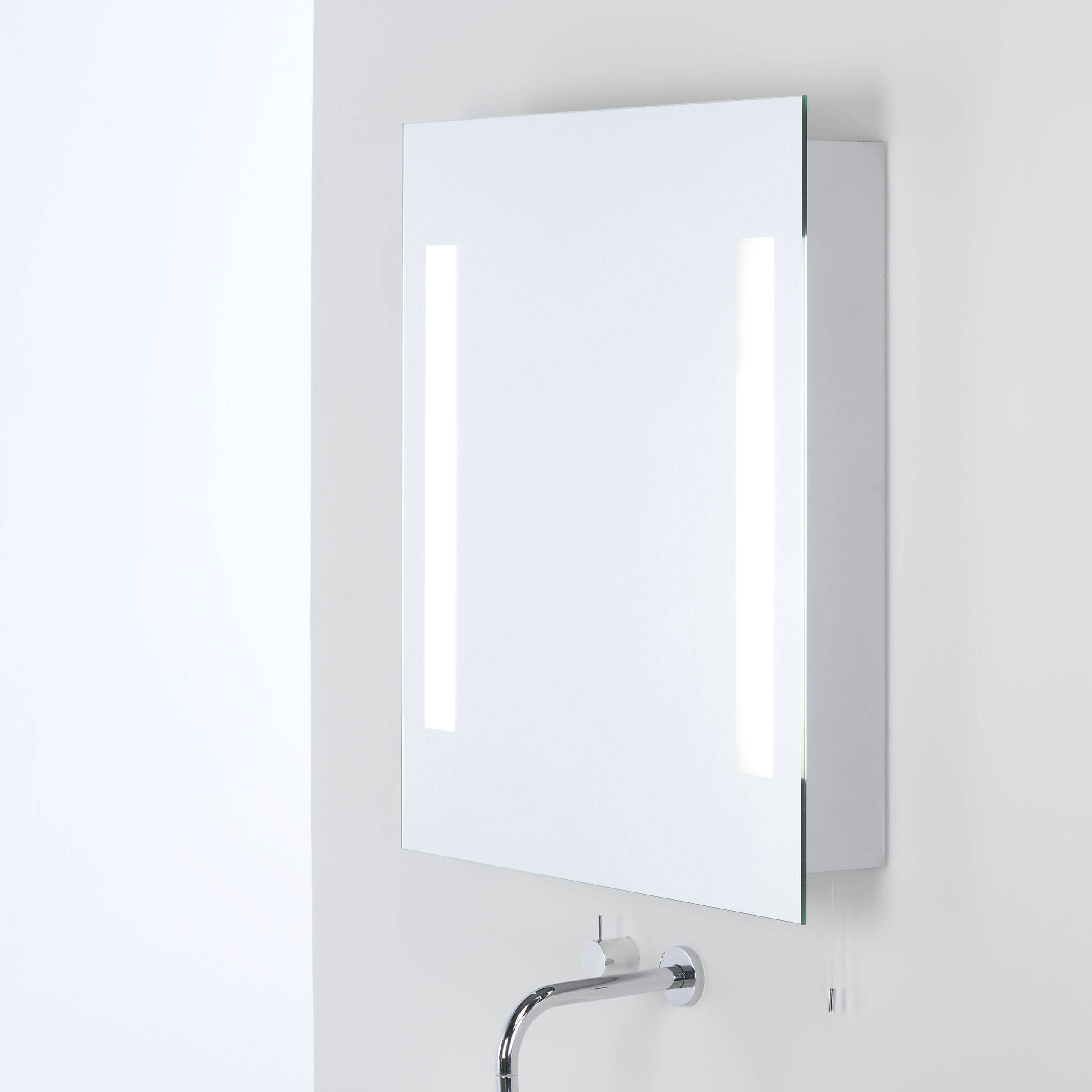 2 Light Illuminated Bathroom Mirror Cabinet Light Ip44 within measurements 2500 X 2500