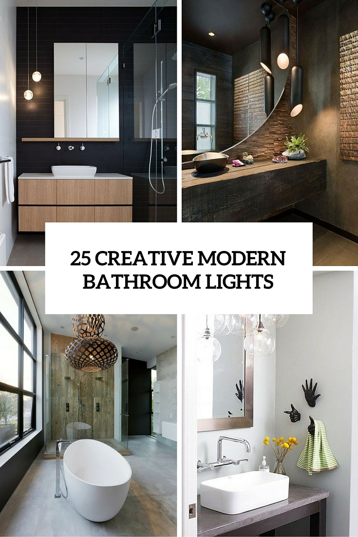 25 Creative Modern Bathroom Lights Ideas Youll Love Digsdigs for proportions 735 X 1102