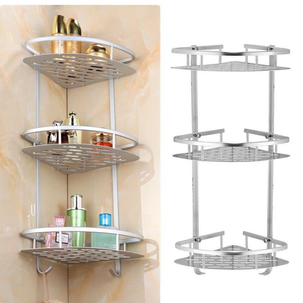 3 Tier Shampoo Basket Shower Shelf Bathroom Corner Shower Rack Storage Holder Hanger For Towels Soap Lotion for measurements 1001 X 1001