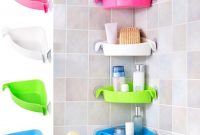 4 Colors Bathroom Corner Storage Rack Organizer Shower Wall Shelf With Suction Cup Home Corner Kitchen Bathroom Shelves throughout proportions 1001 X 1001