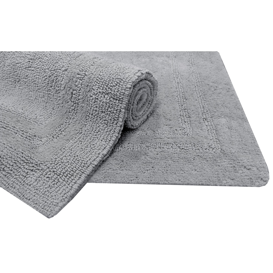 Allen Roth 34 In X 20 In Light Gray Cotton Bath Mat At intended for proportions 900 X 900