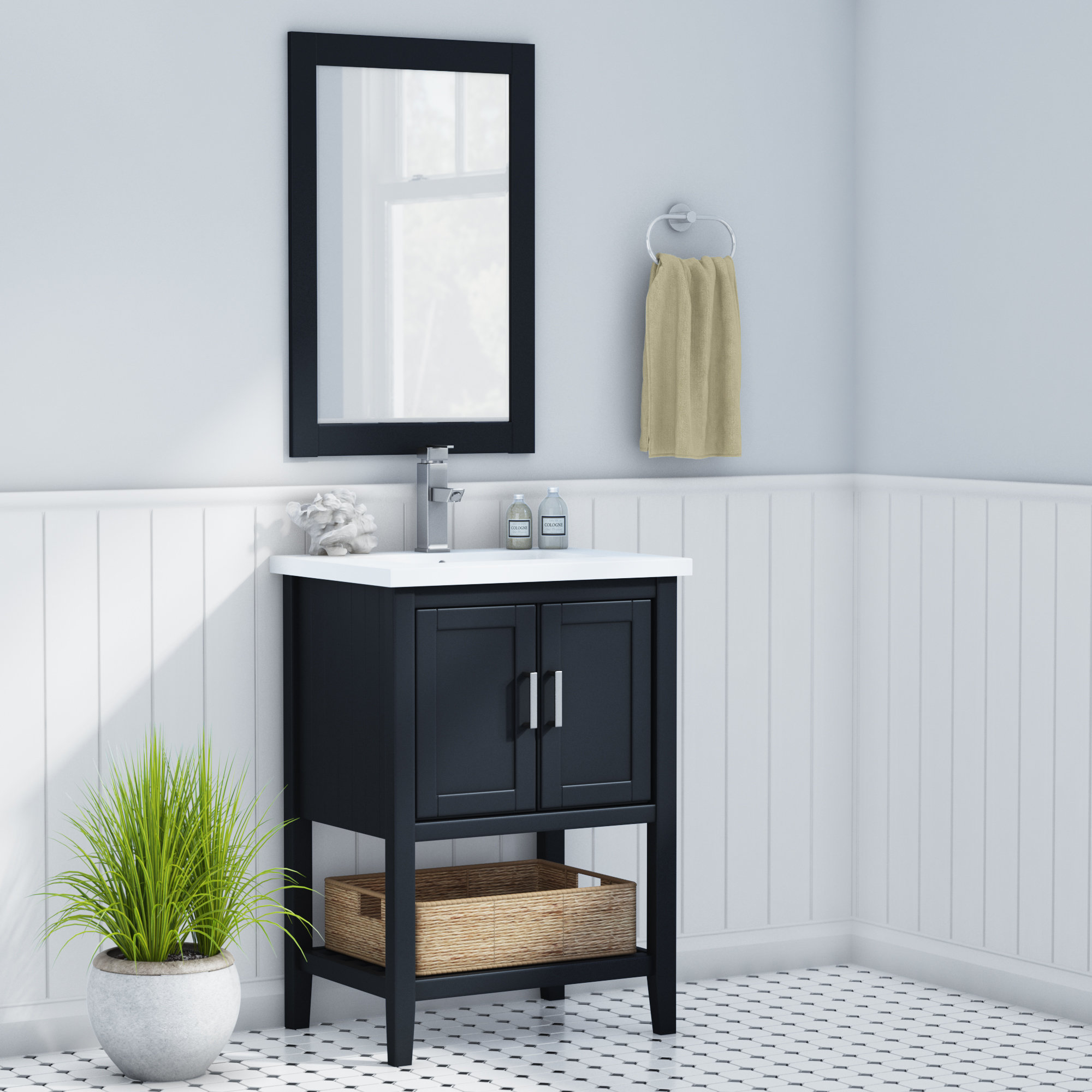 Annabel 24 Single Bathroom Vanity Set With Mirror pertaining to dimensions 2000 X 2000
