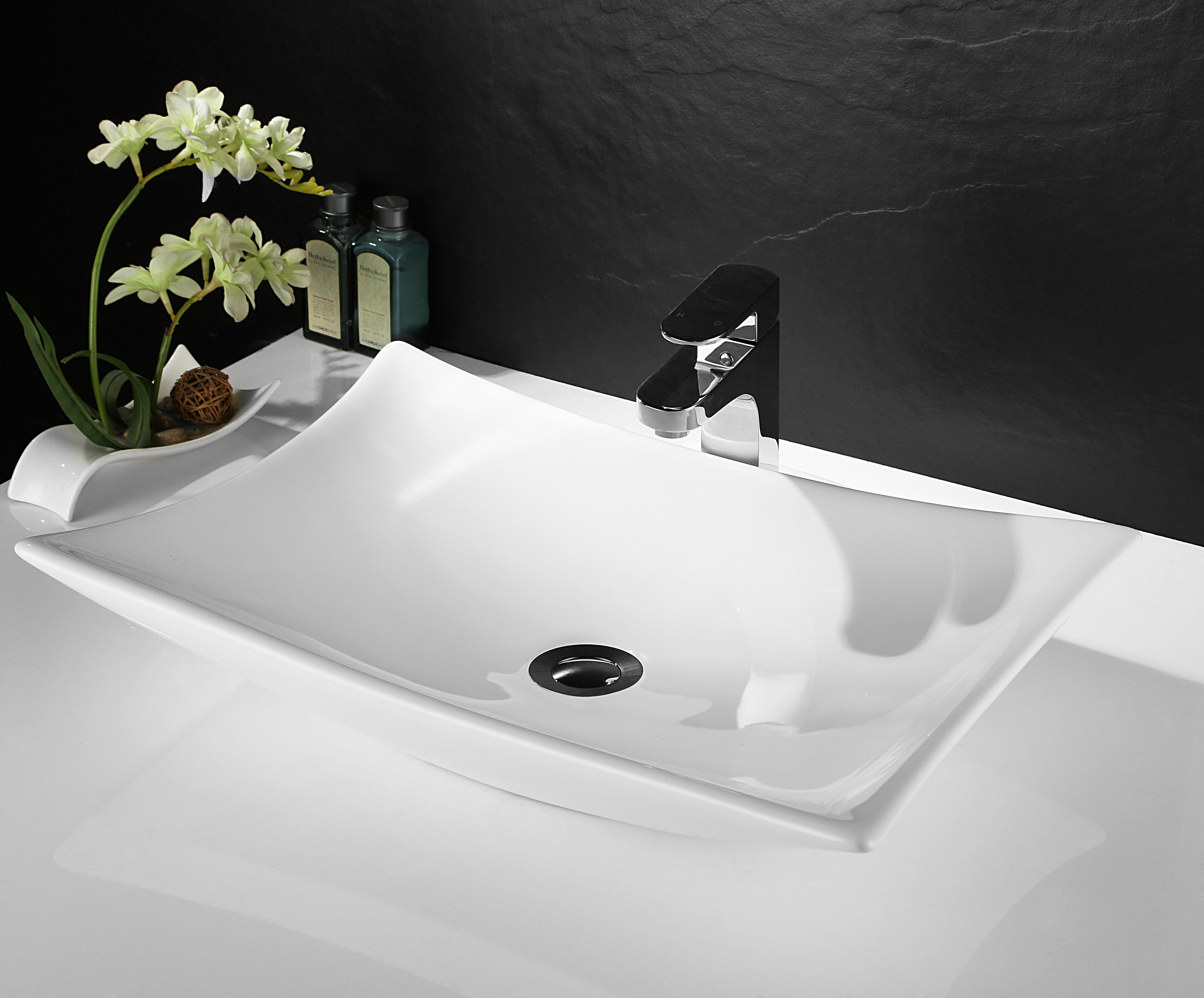 Basin Top Ceramic Wash Basin Bathroom Sink Bowl Gloss Above Counter Top Vanity inside dimensions 4632 X 3840