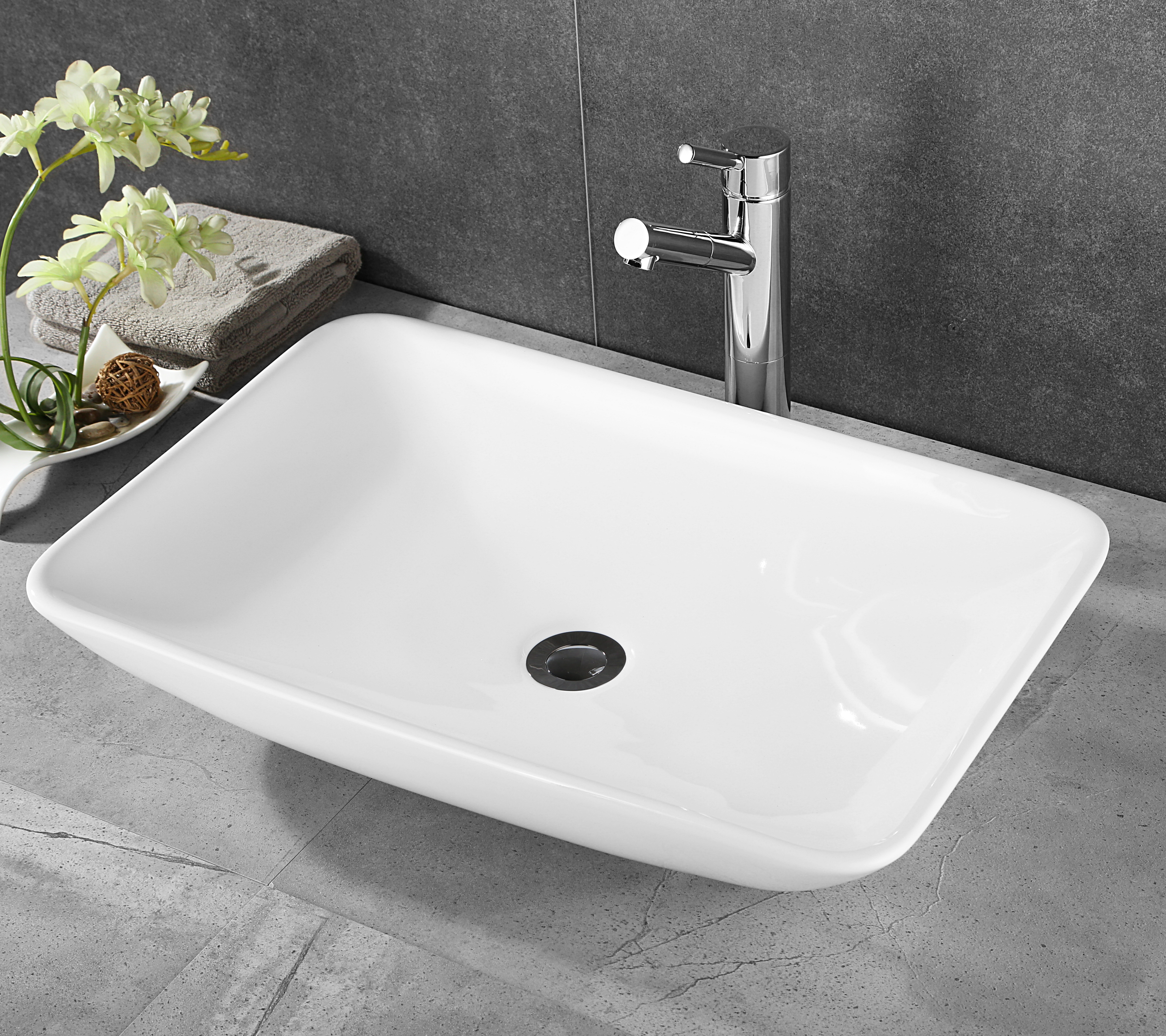 Basin Top Ceramic Wash Basin Bathroom Sink Bowl Gloss Above Counter Top Vanity throughout size 4320 X 3840