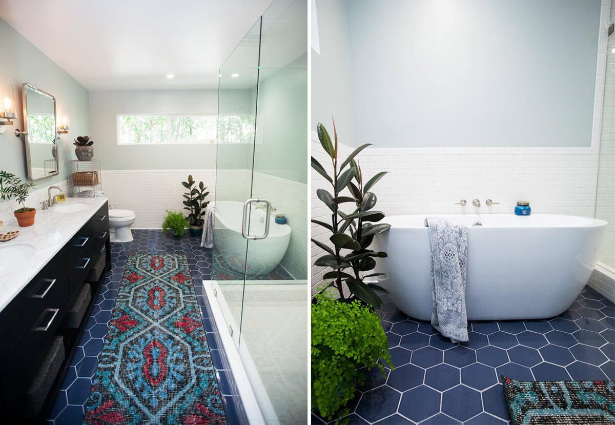 Bathroom Ideas 55 Blue Bathrooms Design Ideas regarding sizing 1200 X 829