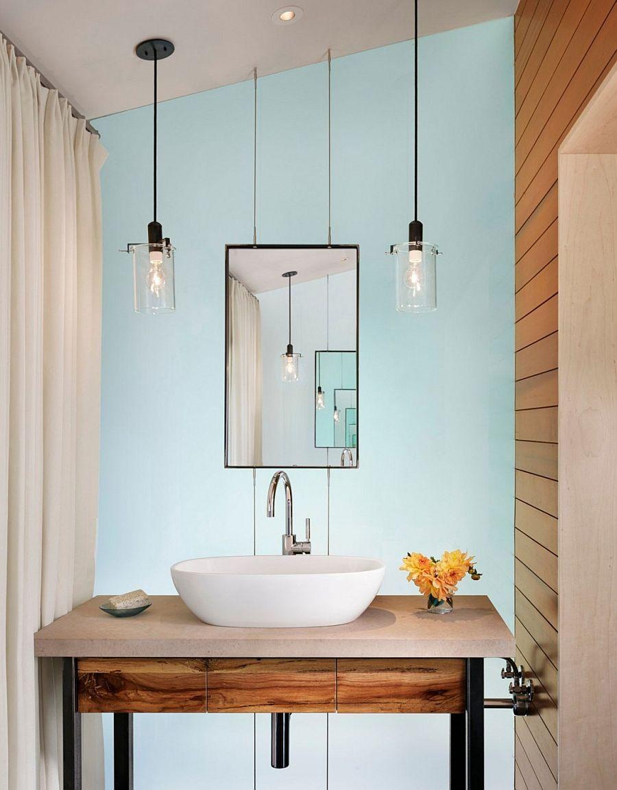 Bathroom Ideas Double Pendant Modern Bathroom Lighting regarding size 900 X 1151