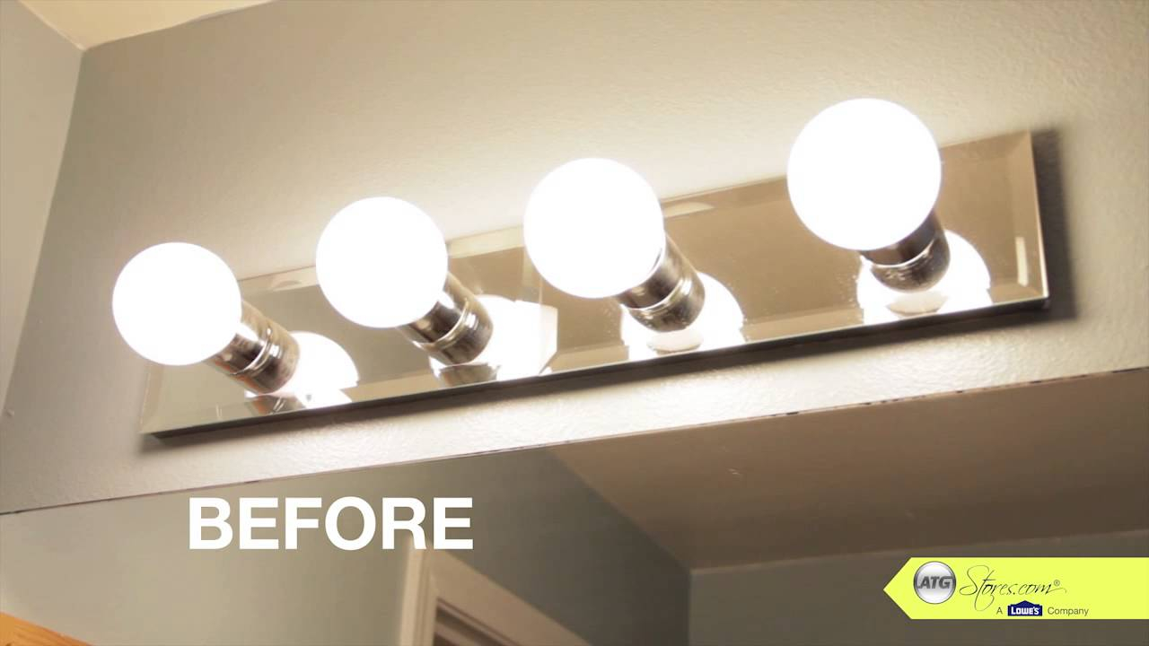 Bathroom Makeover Tip Replace Your Bathroom Lighting within proportions 1280 X 720