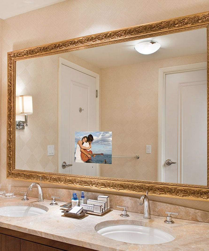 Bathroom Mirror Tv Sportntalks Home Design with regard to size 890 X 1068