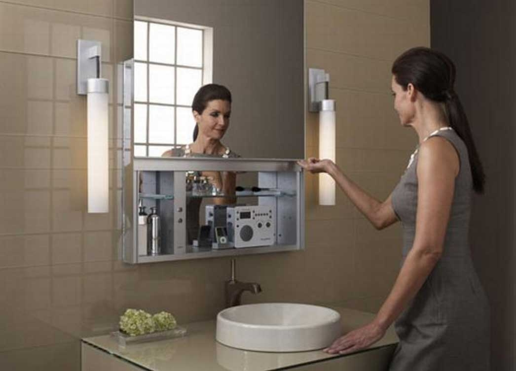 Bathroom Mirror With Hidden Storage Bathroom Mirrors And for dimensions 1046 X 753