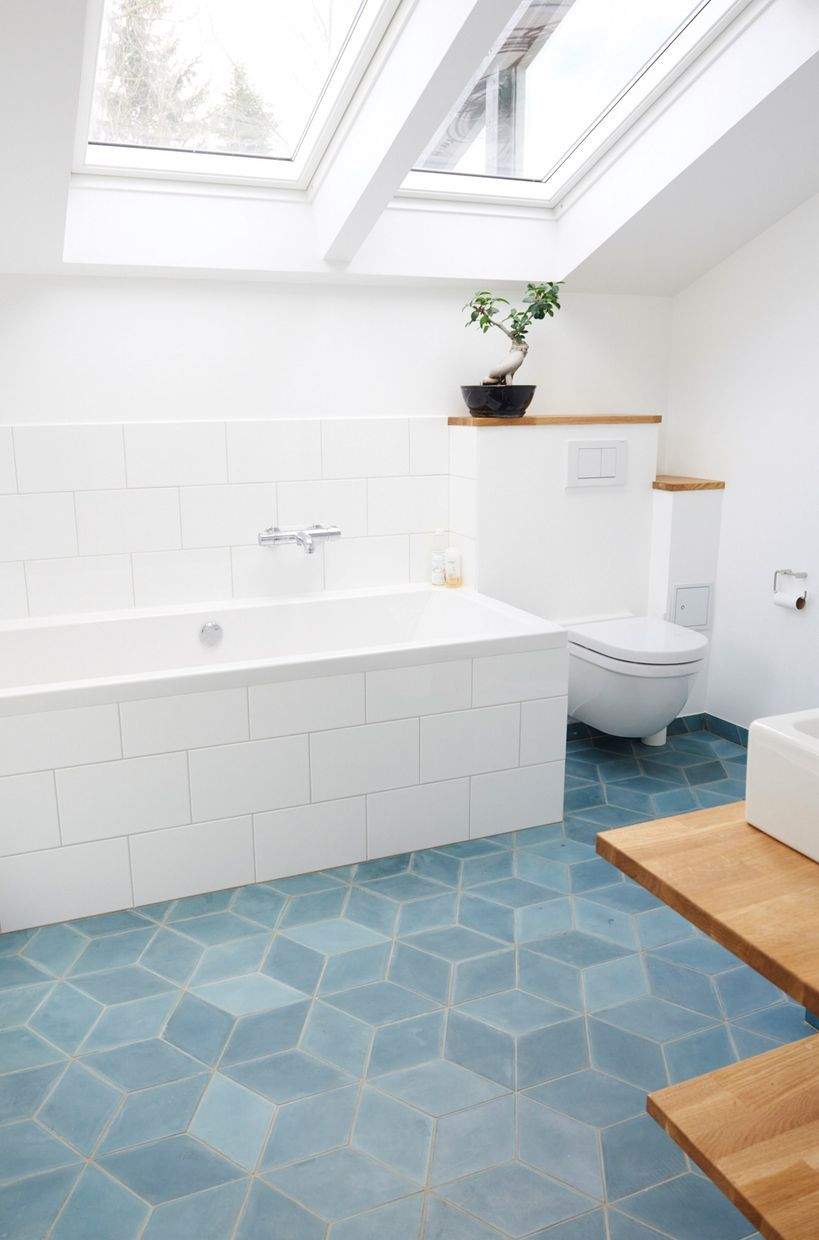 Bathroom Teal Concrete Diamond Tiles Marrocan Funkis Style pertaining to dimensions 819 X 1240