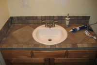 Bathroom Vanity Tile Countertop My Projects Bathroom with regard to dimensions 1600 X 1200