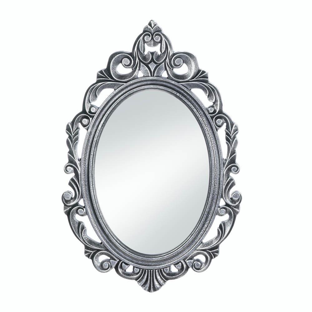 Bathroom Wall Mirrors Decorative Oval Rustic Silver Royal Crown Wall Mirror inside dimensions 1000 X 1000