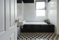 Bathrooms With Black And White Patterned Floor Tiles inside measurements 1900 X 1094