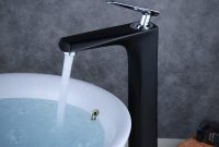Black Modern Bathroom Bath Faucet Counter Top Tall Basin Mixer Tap Vessel Sink Single Handle for sizing 1000 X 1000