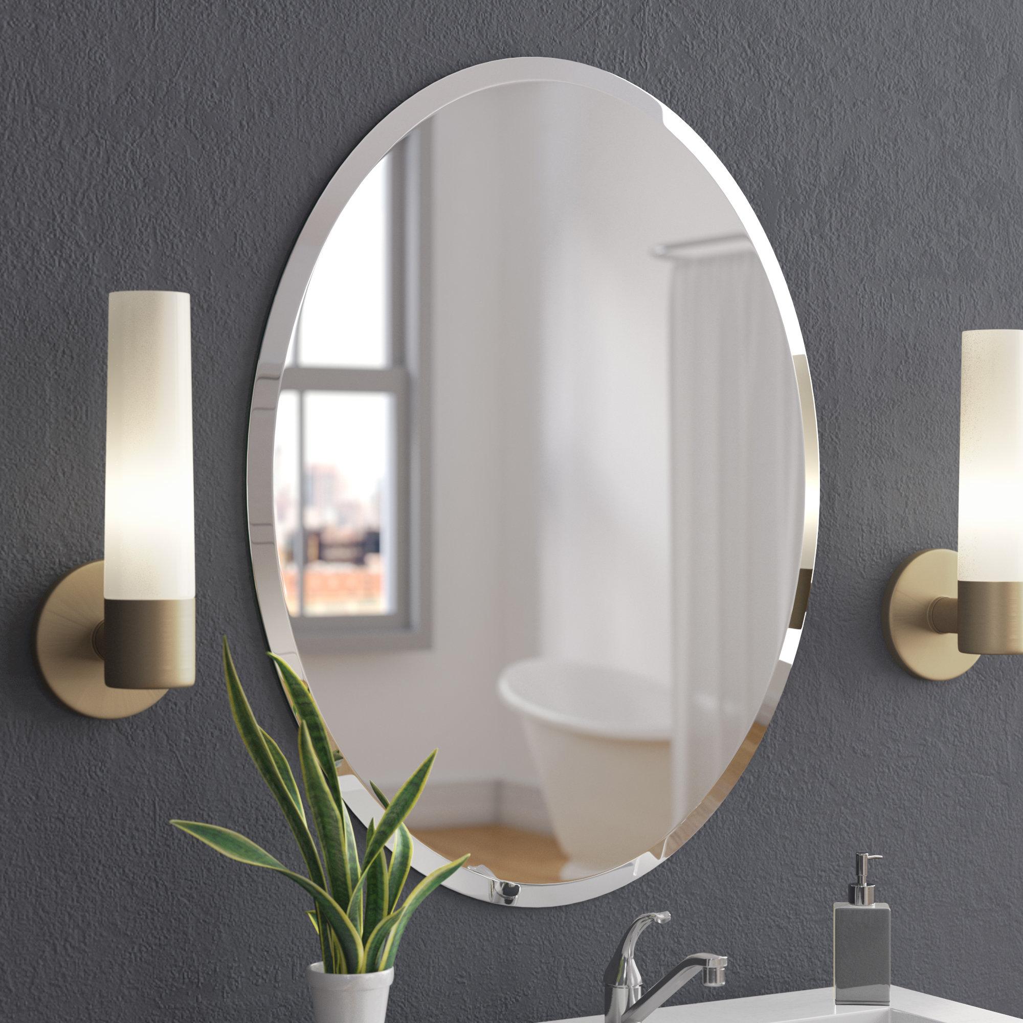 Callison Oval Bevel Frameless Wall Mirror inside sizing 2000 X 2000
