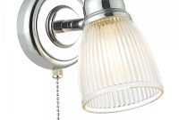 Cedric Bathroom Wall Light Chrome Ribbed Glass Shade With Switch pertaining to size 1000 X 1000