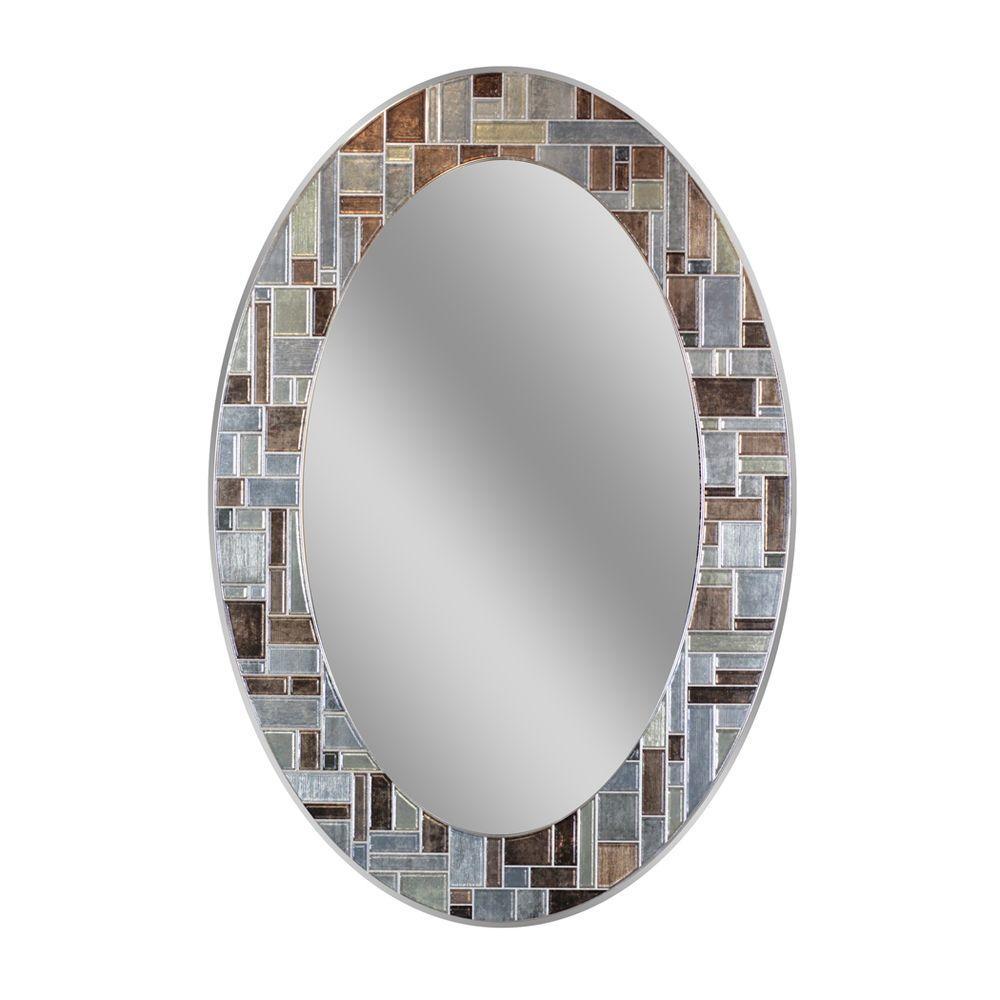 Deco Mirror 31 In L X 21 In W Windsor Oval Tile Wall Mirror regarding size 1000 X 1000