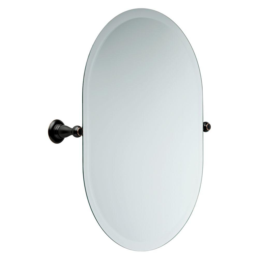 Delta Porter 26 In X 23 In Frameless Oval Bathroom Mirror With Beveled Edges In Oil Rubbed Bronze in proportions 1000 X 1000