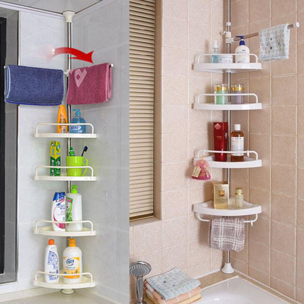 Details About Bathroom Shower Caddy Accessory Rack Toiletry Holder Corner Shelf Organizer Us intended for sizing 1001 X 1001
