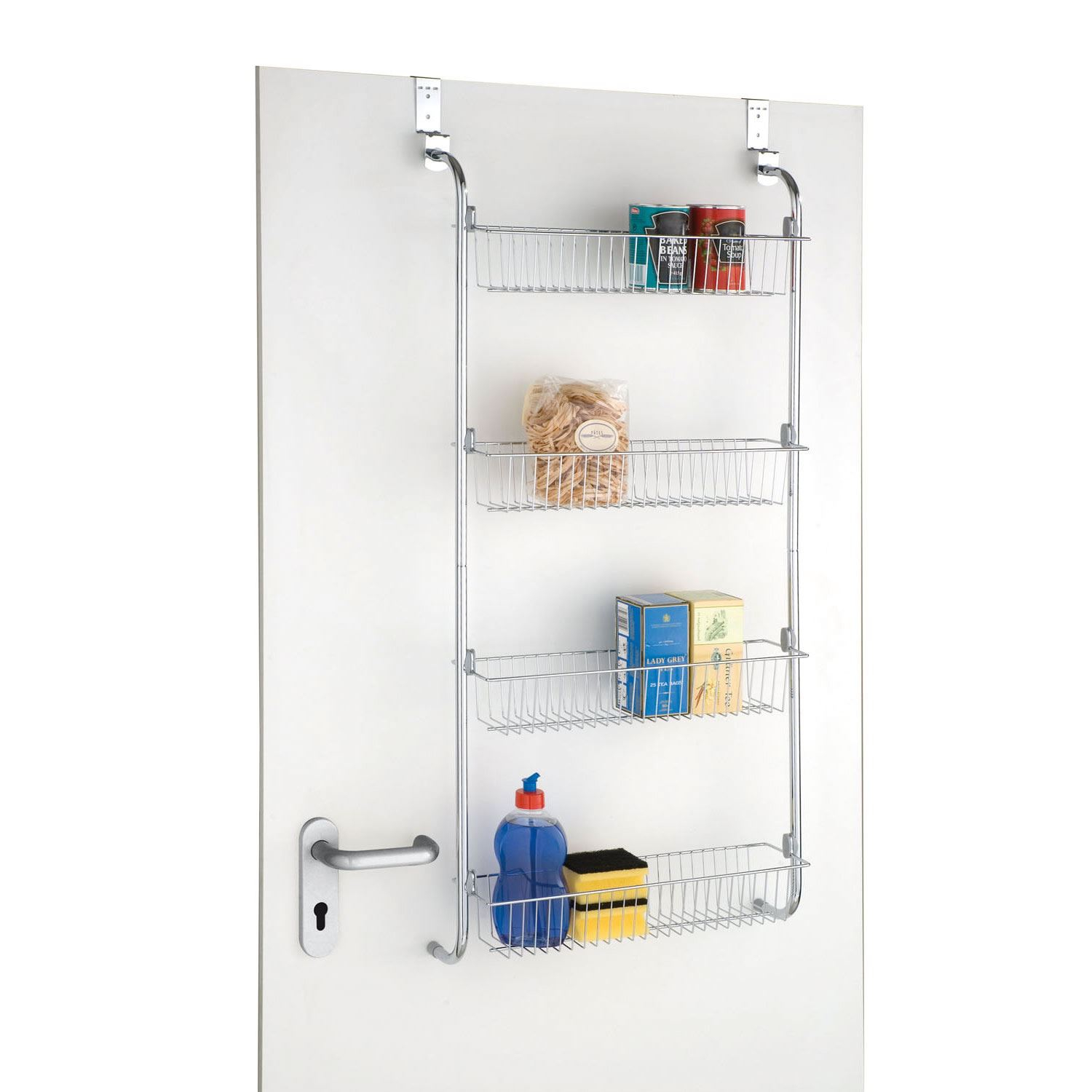 Details About Chrome 4 Tier Over The Door Kitchen Bathroom Storage Rack Spice Jar Toiletries with dimensions 1500 X 1500