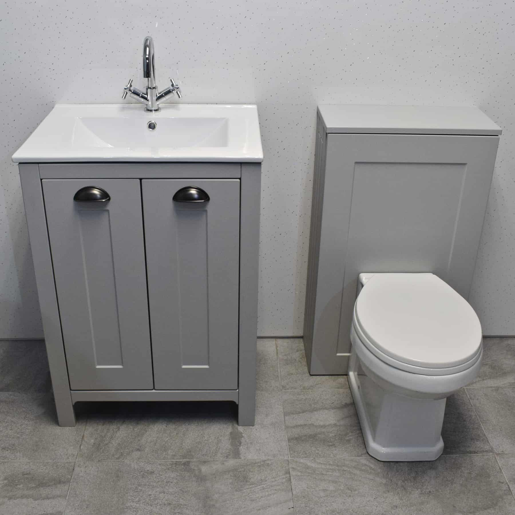 Details About Der Light Grey Bathroom Suite Vanity Sink Basin Wc Toilet Unit for sizing 1800 X 1800