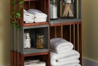 Diy Bathroom Storage Shelves Made From Wooden Crates pertaining to measurements 800 X 1238