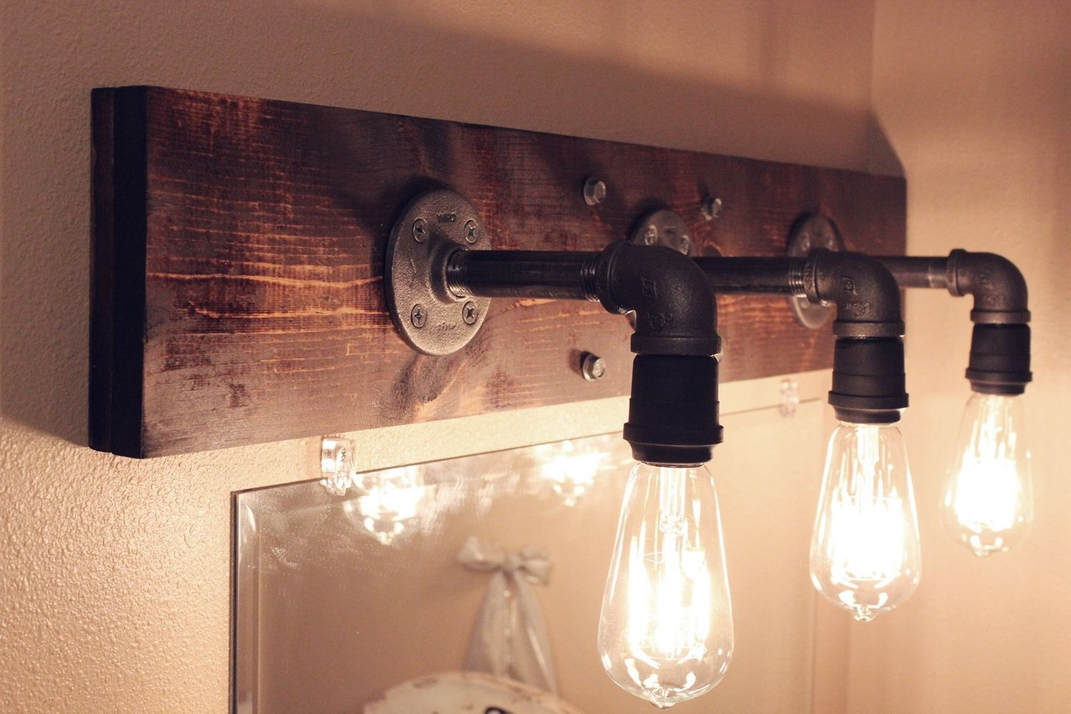 Diy Industrial Bathroom Light Fixtures Diy Bathroom Hacks with regard to sizing 1500 X 1000