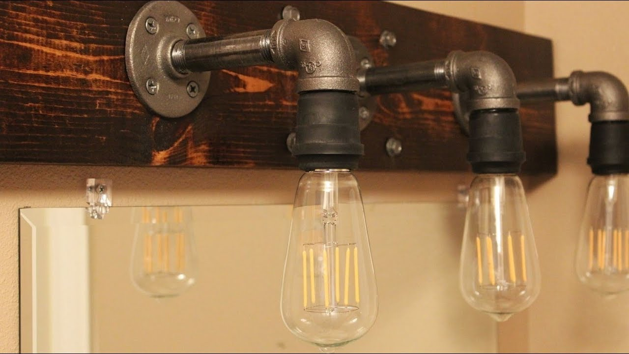 Diy Industrial Bathroom Light Fixtures pertaining to measurements 1280 X 720