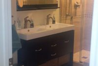 Double Sink Vanity Solution For Small Bathroom Bathroom inside sizing 918 X 1632