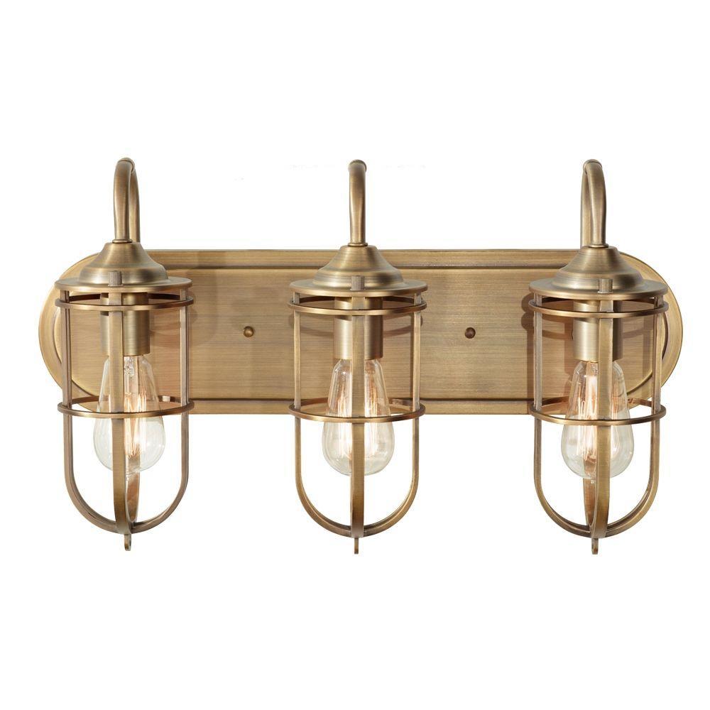 Feiss Urban Renewal 3 Light Dark Antique Brass Vanity Light within proportions 1000 X 1000