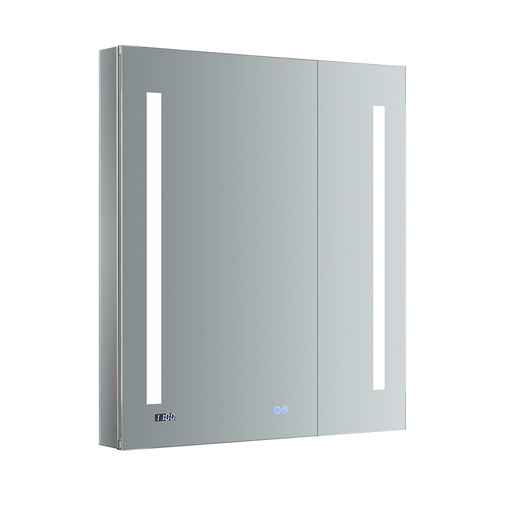 Fresca Tiempo 30 In W X 36 In H Recessed Or Surface Mount Medicine Cabinet With Led Lighting And Mirror Defogger for size 1000 X 1000