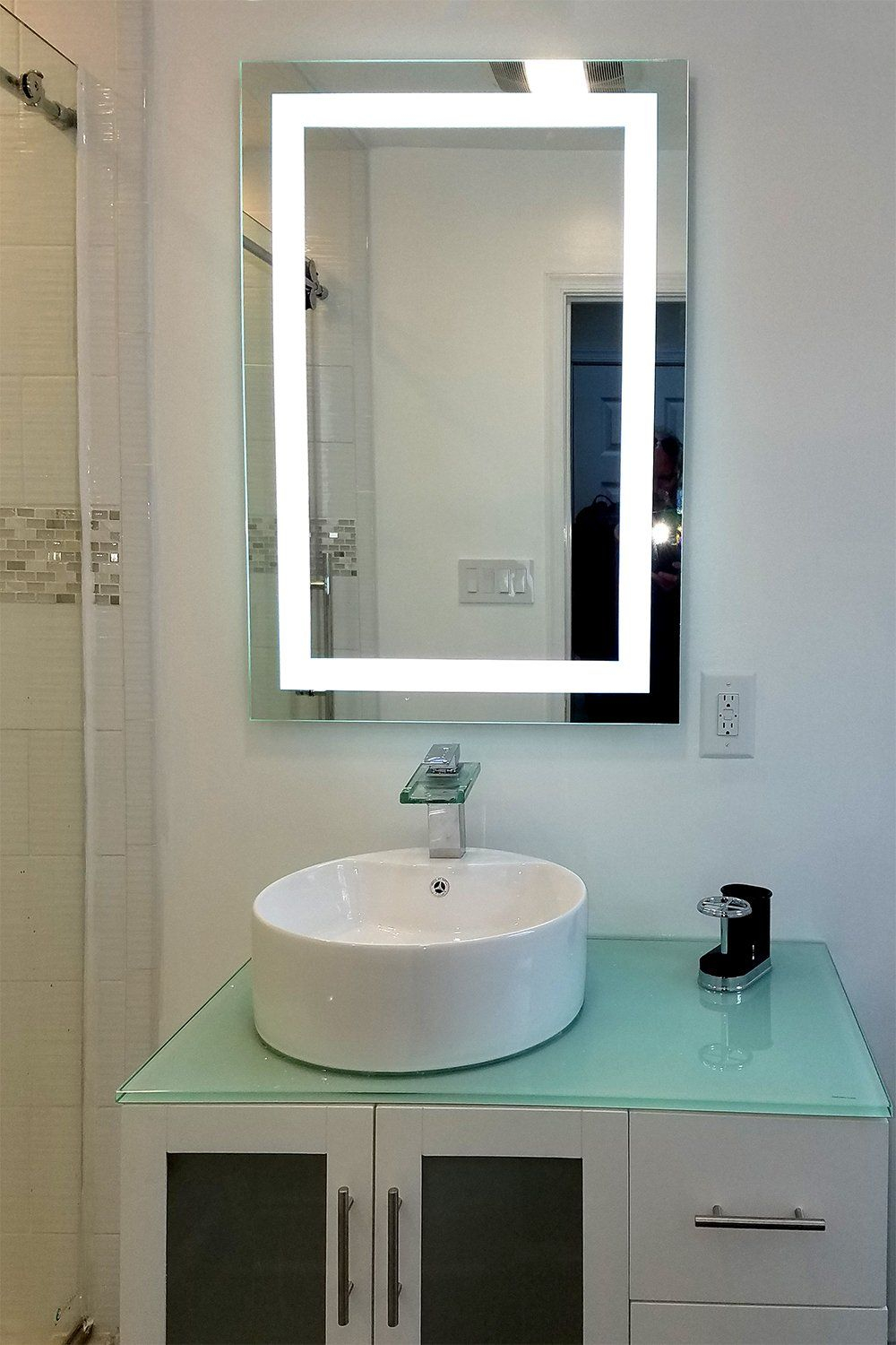 Front Lighted Led Bathroom Vanity Mirror 32 X 48 regarding dimensions 1000 X 1500