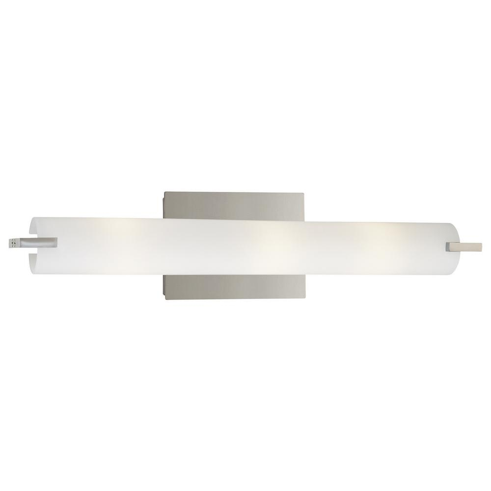 George Kovacs Tube 3 Light Chrome Wall Sconce for dimensions 1000 X 1000