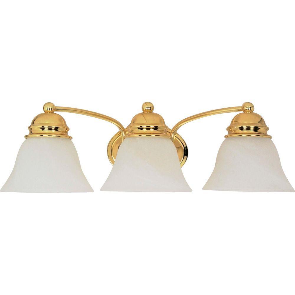 Glomar Nuwa 3 Light Polished Brass Bath Vanity Light With Alabaster Glass in measurements 1000 X 1000