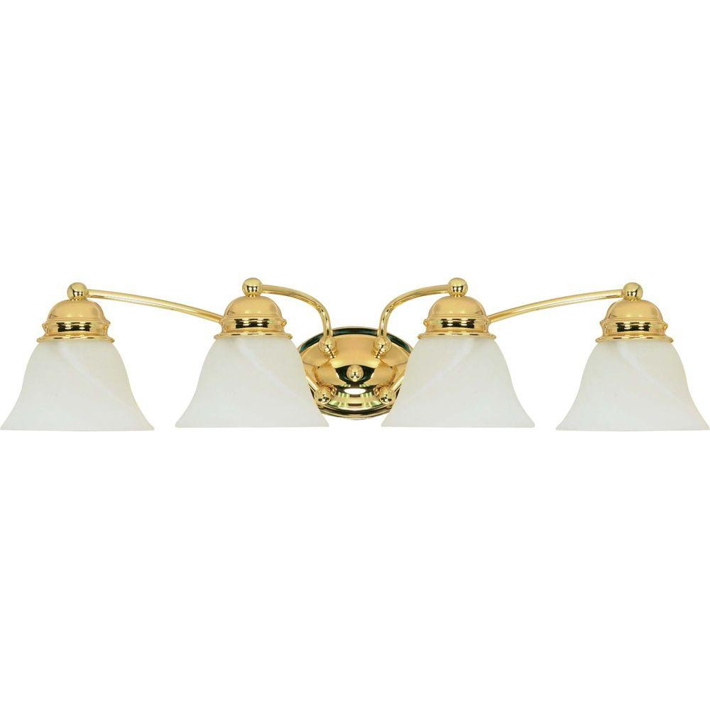 Glomar Nuwa 4 Light Polished Brass Bath Vanity Light With Alabaster Glass pertaining to proportions 1000 X 1000