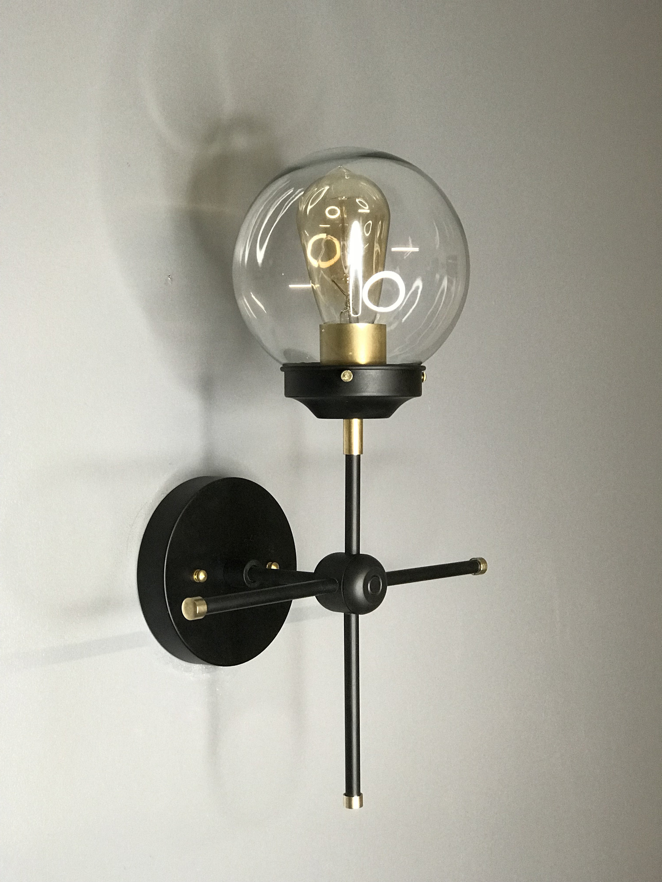 Gold Raw Brass Her Wall Sconce Modern Industrial Vanity Mid for sizing 2250 X 3000
