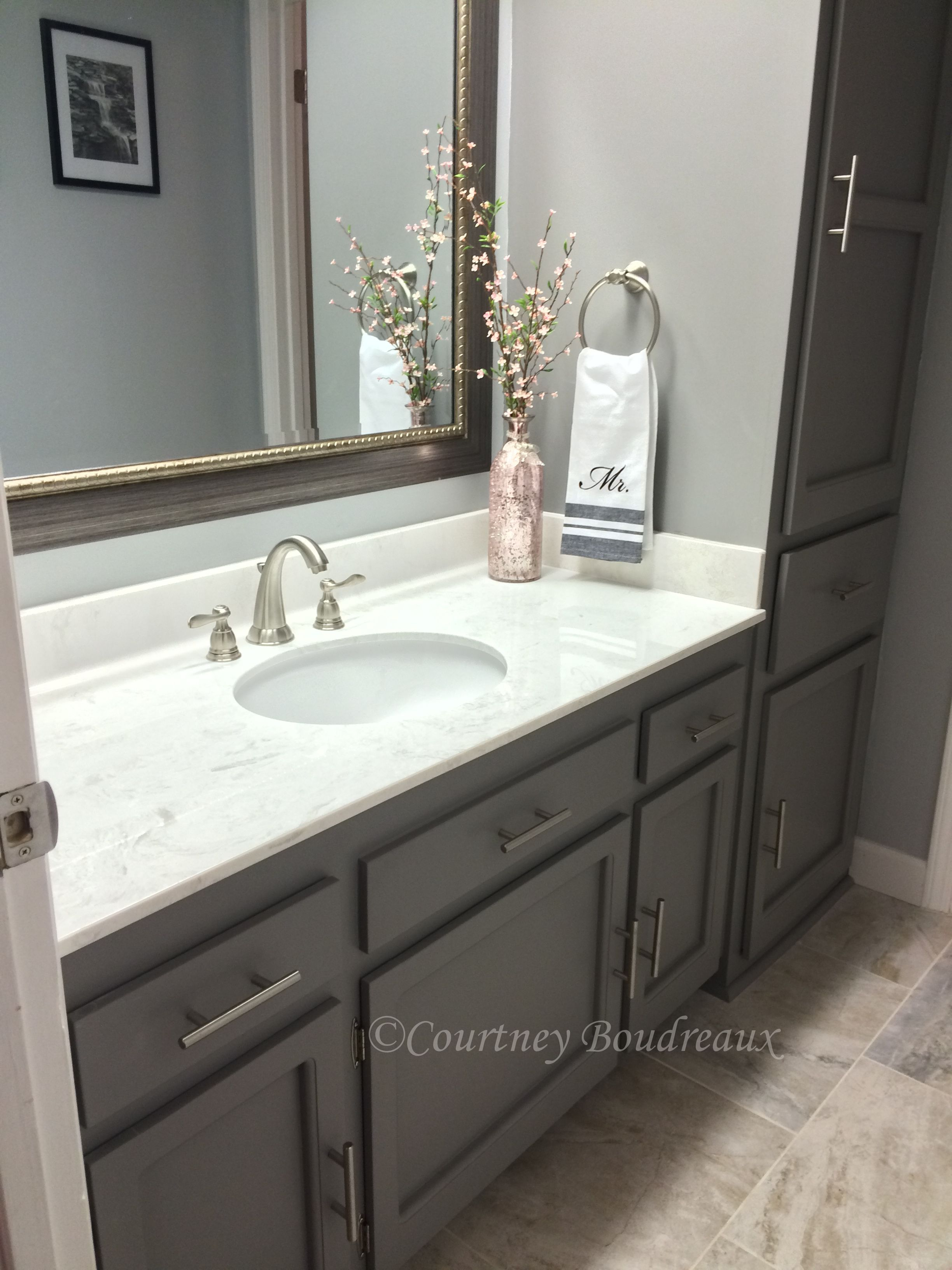 Grey And White Bathroom Behr Paint Using Color Anonymous within dimensions 2448 X 3264