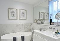 Half Tiled Marble Effect Walls And Floor Create A Dramatic within sizing 1000 X 1500