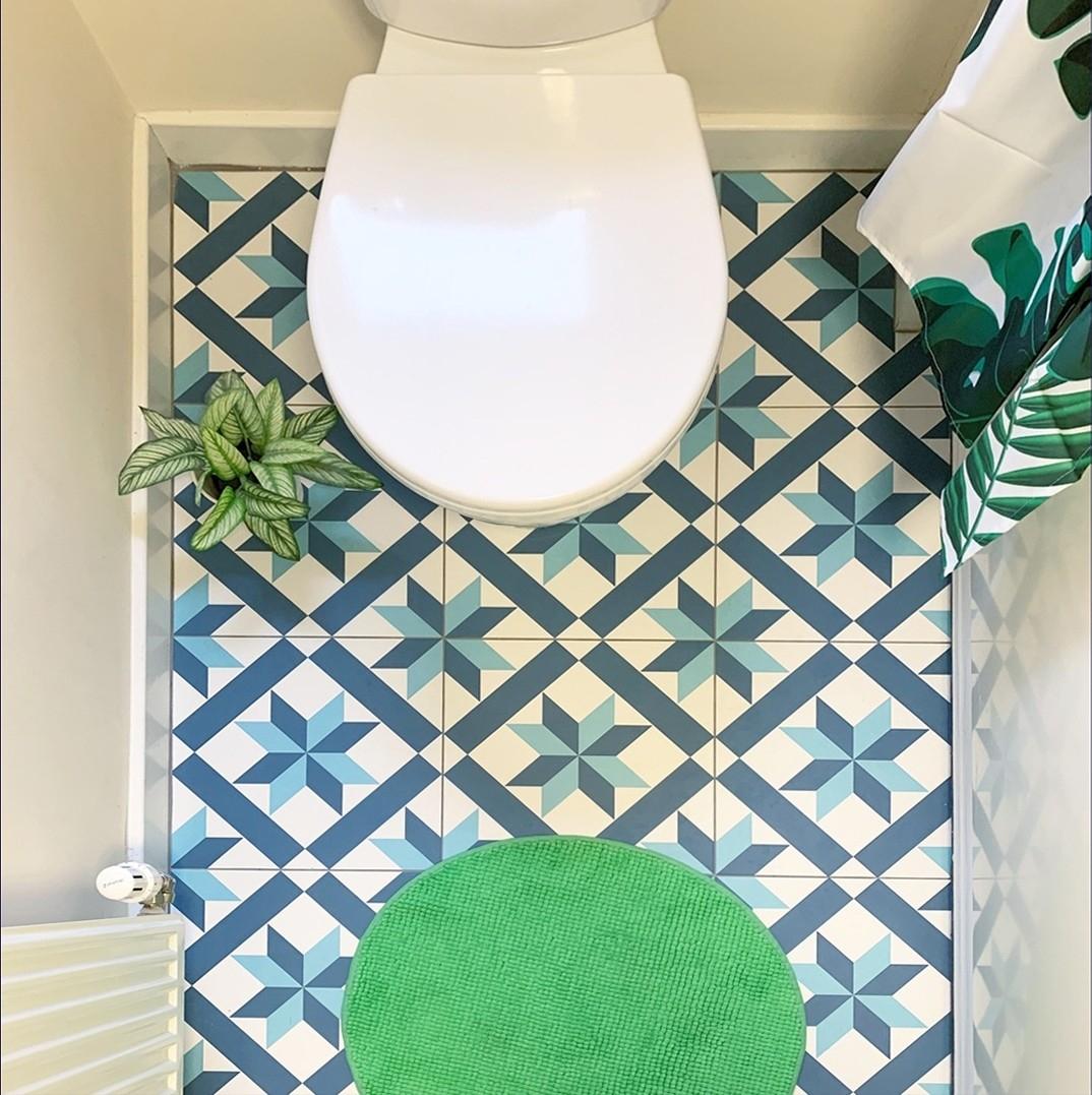 Hanoi Star Blue Floor Tile with regard to sizing 1074 X 1077