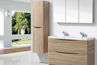 Harbour Clarity 1500mm Wall Mounted Tall Storage Cabinet Lh Light Oak with regard to sizing 1200 X 1200