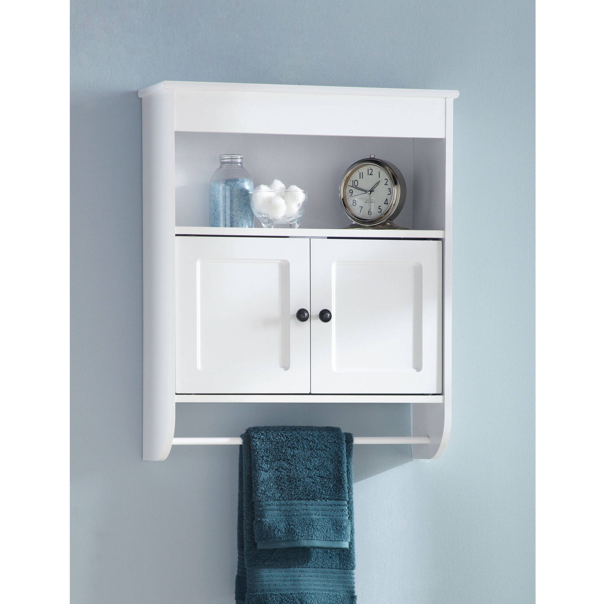 Hawthorne Place Wood Wall Cabinet White with measurements 2000 X 2000