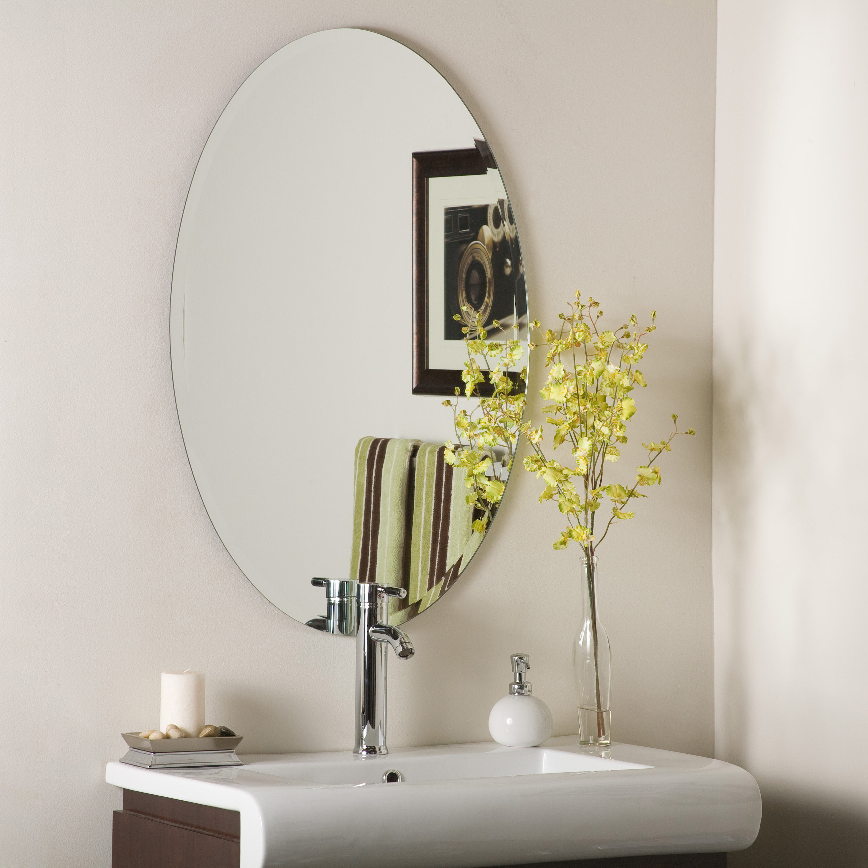 Helmer Oval Bevel Frameless Wall Mirror with dimensions 2912 X 2912