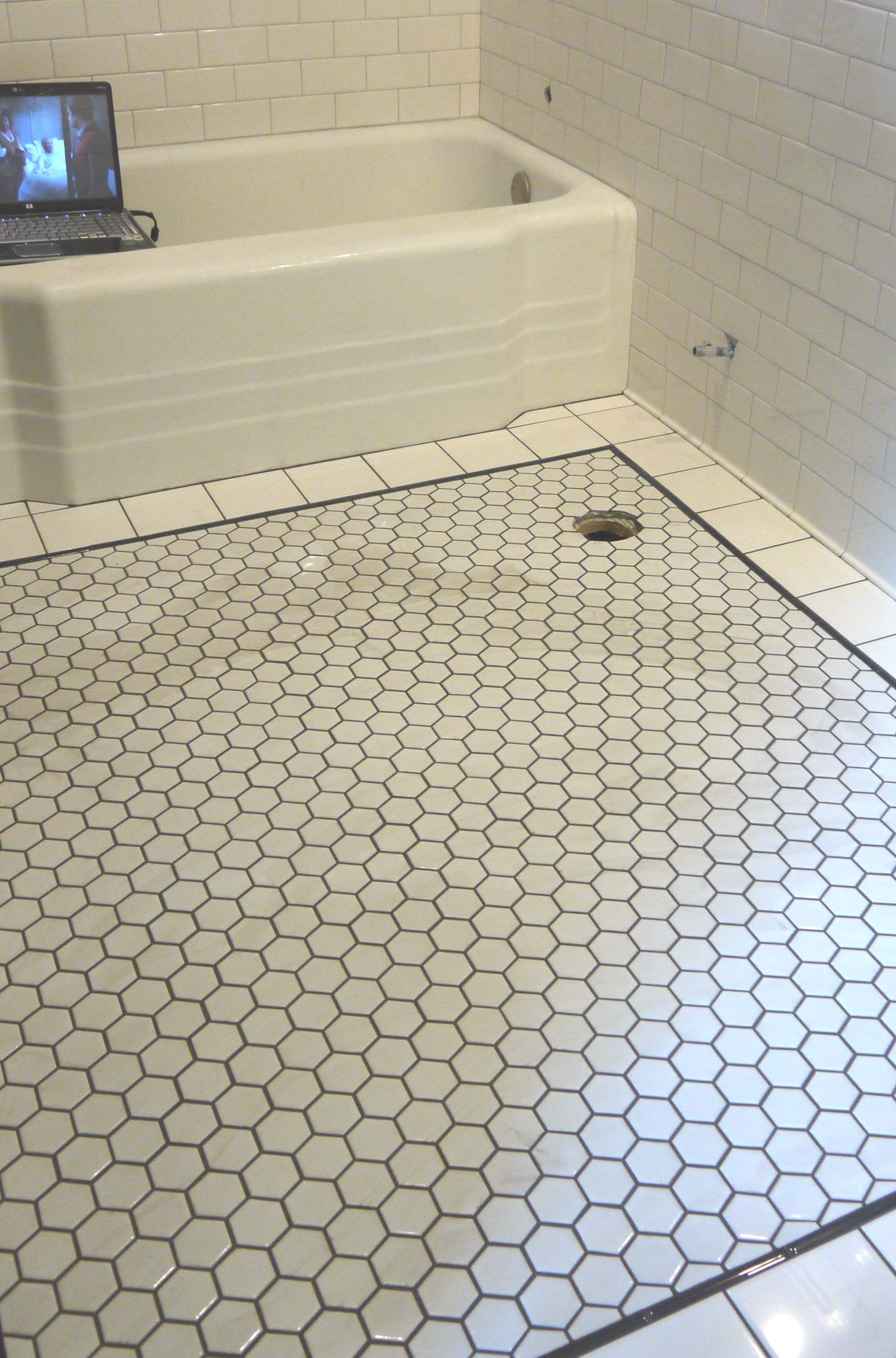 Hexagon Tile With Dark Grout Home In 2019 Hexagon Tile pertaining to measurements 2009 X 3042