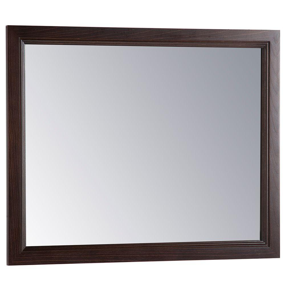 Home Decorators Collection Teasian 26 In X 31 In Framed Single Wall Mirror In Chocolate pertaining to proportions 1000 X 1000