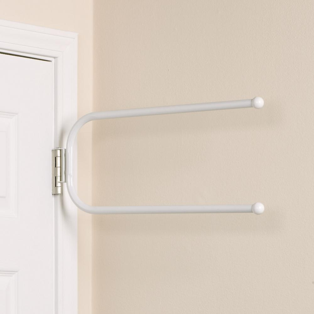 Household Essentials 25 Lb Hinge It Spacemake Double Bar Over The Door Hook In White for measurements 1000 X 1000